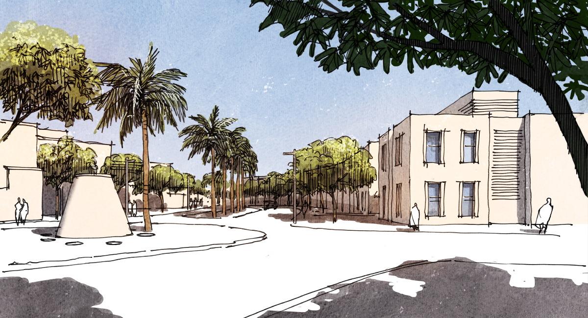 02 boulevard 2 architektur zeichnung. Black Bedroom Furniture Sets. Home Design Ideas